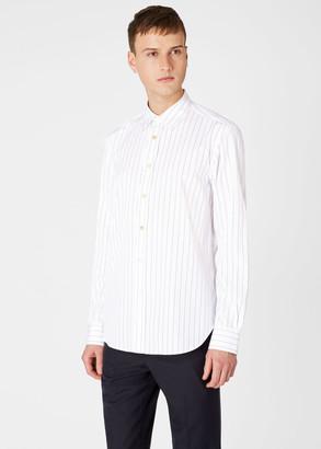 Paul Smith Men's Tailored-Fit Pin Stripe Cotton Shirt