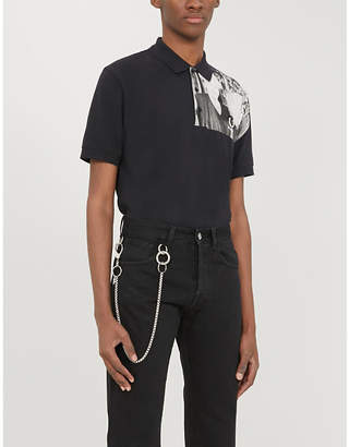 Fred Perry Graphic-print relaxed-fit cotton-piqué polo shirt