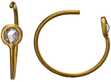 Page Sargisson Rose Cut Diamond Wire Earrings