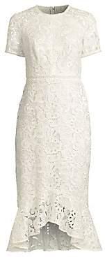 Shoshanna Women's Edgecombe Crocheted Lace Midi Dress