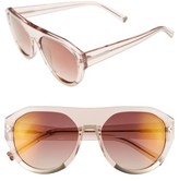 KENDALL + KYLIE Women's Mercy 55Mm Aviator Sunglasses - Blush Crystal/ Satin Gold