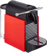 Nespresso D60 Pixie Neon Coral Espresso Machine With Aeroccino