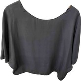 Vince Grey Silk Top for Women