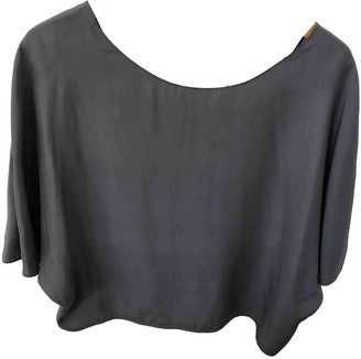 Vince Grey Silk Top for Women