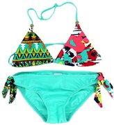 Meiruian Kids Girl Flowers Swimsuit Two Pieces Bikini Set 6-15Years TY20160607#