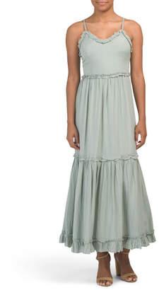 Juniors Tiered Ruffle Maxi Dress