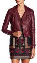 Romeo & Juliet Couture Faux Leather Asymmetrical Zip Jacket