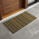 "Crate & Barrel Chilewich ® Multi Thin Striped 20""x36"" Doormat"