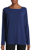 Calvin Klein Lace-Trim Long-Sleeve Pajama Top