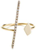 Hirotaka Gossamer Long Diamond Bar And Fragment Ring
