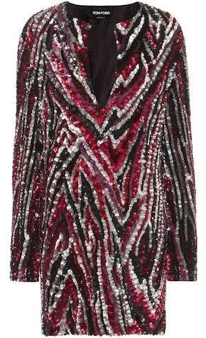 Tom Ford Sequin-embellished mini dress