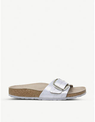Birkenstock Madrid Big Buckle metallic-leather sandals