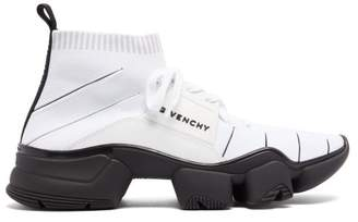 Givenchy Jaw Raised Sole Sock Trainers - Mens - White