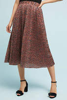 Nümph Pleated Leopard Skirt