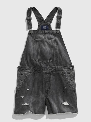 Gap Teen Destructed Denim Shortall