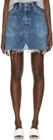 RE/DONE Re-done Blue Denim High-rise Miniskirt