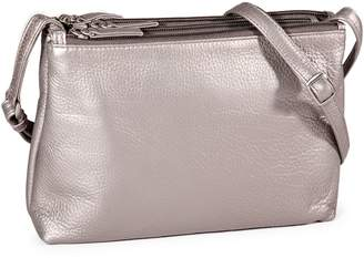 Derek Alexander Triple Zip Leather Crossbody Bag