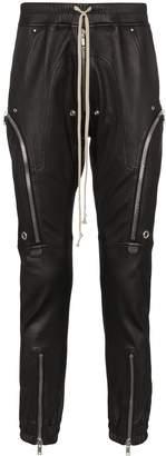 Rick Owens Bauhaus zip-detailed leather cargo trousers