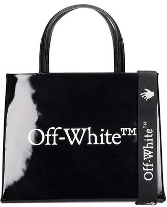 Off-White Mini Box Hand Bag In Black Leather