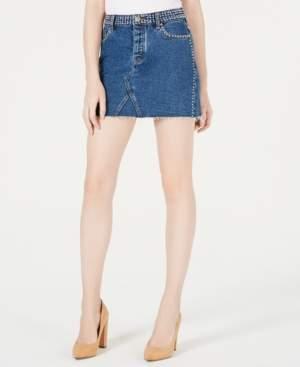 KENDALL + KYLIE Cotton Studded Denim Skirt