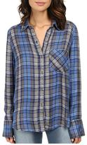 Free People Joplin Plaid Top