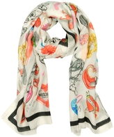 Moschino Cheap & Chic Moschino Cheap and Chic - Modal and Cashmere Print Stole