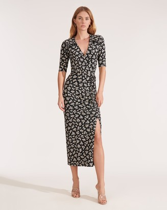 Veronica Beard Mariposa Floral-Printed Midi Dress