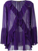 Roberto Cavalli ruffle detail sheer blouse