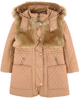 Chloé Mini Me long bi-material padded coat