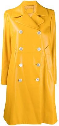 Prada Double-Breasted Leather Coat