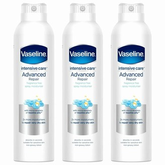Vaseline Intensive Care Spray Moisturiser Advanced Repair 3 X 190Ml