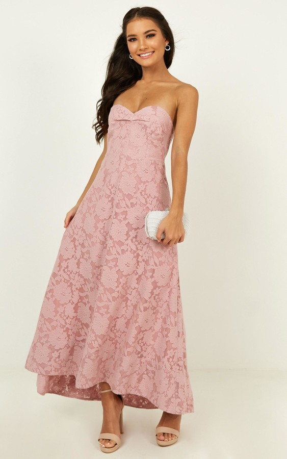 Showpo Show me the light dress in blush - 4 (XXS) Bridesmaid
