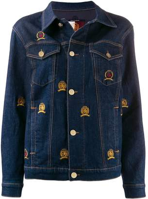 Tommy Hilfiger embroidered crest denim jacket