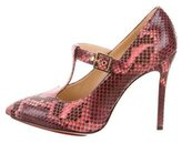 Charlotte Olympia Snakeskin Pointed-Toe Pumps