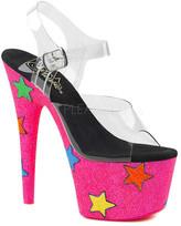 Pleaser USA Women's Adore 708UVG Ankle-Strap Platform Sandal