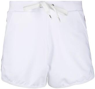 Moschino Logo-Print Drawstring Shorts
