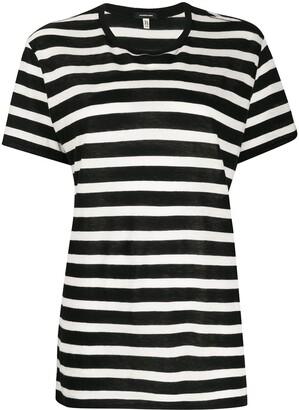 R 13 striped crew-neck T-shirt dress