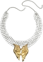 Forzieri Bernard Delettrez Silver Chains with Bronze Wings Necklace