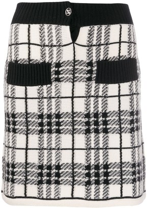 Barrie Plaid Cashmere Skirt