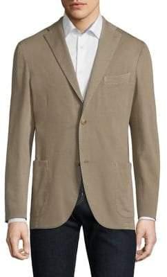 Boglioli Men's Khaki Hopsack Jacket - Beige - Size 58 (48)