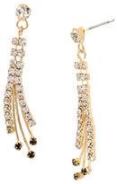 Betsey Johnson Crystal Linear Drop Earrings