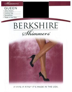 Berkshire Plus Queen Control Top Shimmer Pantyhose 15 Denier