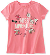 Kate Spade Miss Adventure Stretch Jersey Tee, Pink, Size 7-14