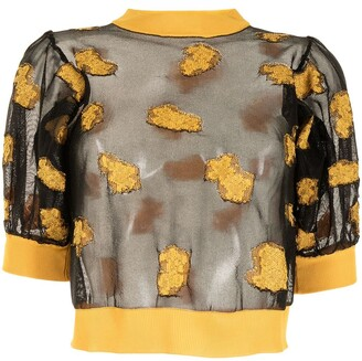 Cecilie Bahnsen Floral Pattern Knitted Top