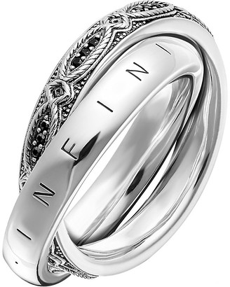 Thomas Sabo Infinity Of Love sterling silver and zirconia intertwined ring