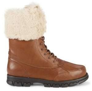 Lauren Ralph Lauren Dabney Faux-Fur Trimmed Boots