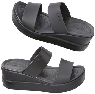 Crocs Brooklyn Mid Wedge 206219-060 Black/Black