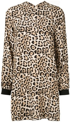 ATM Anthony Thomas Melillo Leopard Print Mini Dress