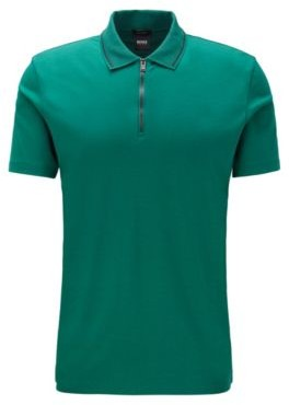 Regular-fit polo shirt in interlock cotton
