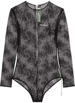 Off-White Lace Bodysuit - Black